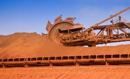 Moving stocks of iron ore