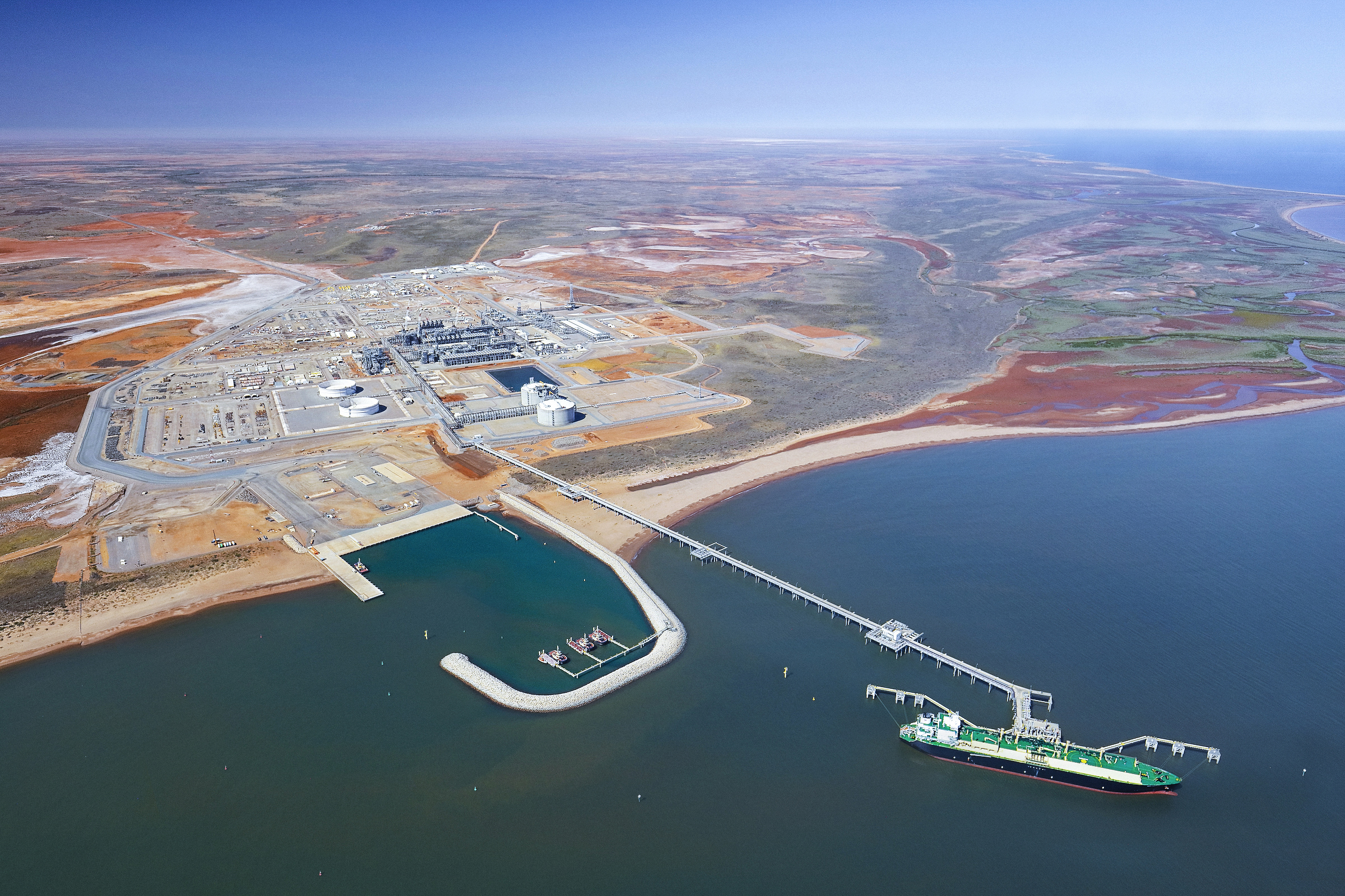 Chevron operated Wheatstone LNG plant at Ashburton North