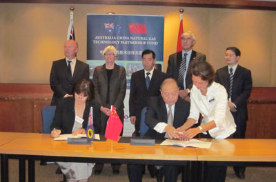 2010: 12 January Signing Ceremony of Approved Research Projects at the Department of State Development, Perth