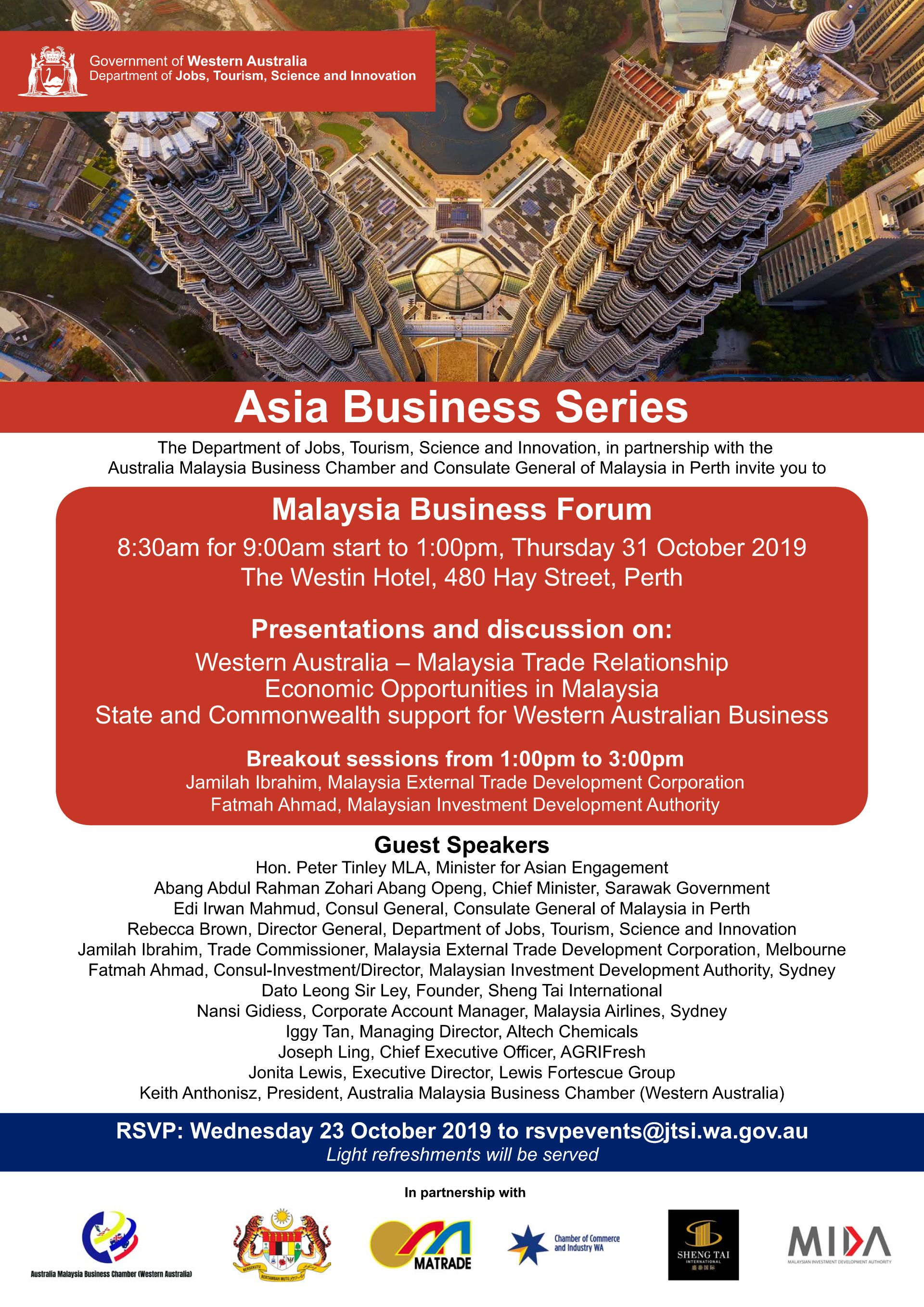 MALAYSIA BUSINESS FORUM - 31 OCTOBER 2019